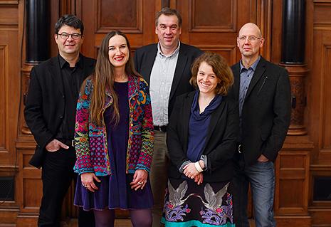 Stadträtinnen und -räte der grünen Fraktion 2014 (© Uwe Köhn)