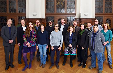 Erweiterte bündnisgrüne Stadtratsfraktion Halle (Saale) 2013 (© Uwe Köhn)